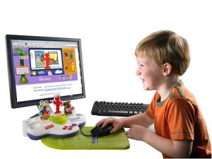a child using laptop